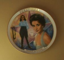ELIZABETH TAYLOR Plate HOLLYWOOD WALK OF FAME + COA Movie Star Susie Morton