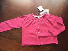 NWT Authentic Burberry Baby Girl Very Nice Cotton Cardigan/ Jacket Size 12 M