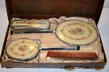 Antique Ladies Vanity Set Brushes Combs And Mirror