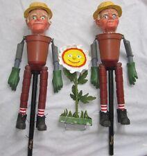 Bill & Ben vaso di fiori Uomini BURATTINI ventriloquo Orologio con la madre Teatro di Figura