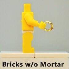 New Genuine LEGO Chrome Gold Ring Engagement Wedding