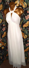 TED BAKER Quinie Ivory White Long Maxi Dress Gown Ball Prom Beach Wedding 1 / 8
