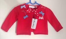 Tartine Et Chocolat French Designer Baby Red Nautical Cardigan 3 Months BNWT