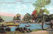 Turkey CONSTANTINOPLE Postcard Ottoman c1910 Les eaux douces Europe C33