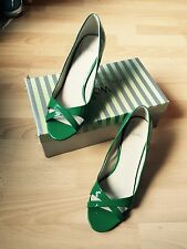 1950's Style Shoes Size 6 UK Green