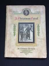 """Antique """"A Christmas Carol"""" By Charles Dickens, Illustrated By Harold Copping"""