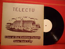 1990 TELECTU Live At The Knitting Factory LP PORTUGAL NM RARE ELECTRONIC MINIMAL