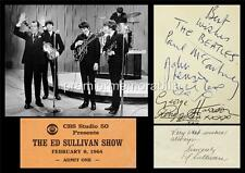 THE BEATLES JOHN LENNON PAUL McCARTNEY HARRISON & ED SULLIVAN SIGNED (PRINTED)