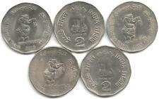 Rupee 2 Nickel Coins, 5 Pieces, on 'Railways - 150 Glorious Years, 2003'