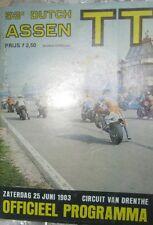 * Dutch TT Assen - Official Race - Programme  1983 *
