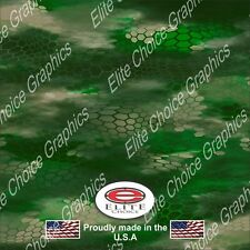 "Chameleon Hex Green CAMO DECAL 3M WRAP VINYL 52""x15"" TRUCK PRINT REAL CAMOUFLAGE"