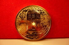 24K GOLD FINISHED Dr who The 10th Doctor coin medal on card.The very Last one.