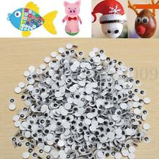 1000pcs 6mm Round Wiggly Wobbly Googly Eyes Self-adhesive Scrapbooking Crafts