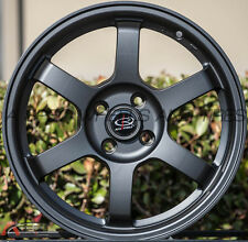 ROTA GRID 16X7 +27 BLACK 4X100 FIT HONDA CIVIC SI EK6 CRX FIT LIGHT WHEEL RACING