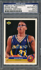 1992/93 U.D. McDonald's Reggie Miller PSA/DNA Certified Authentic Auto *5204
