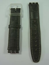 ASCK403 Clerk Classic Swatch Armband Strap Leather Swiss Made Authentic 17mm