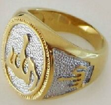 Fashion 18k gold plated Allah islam man wooman ring size 8 ! Gift Jewelry & Love