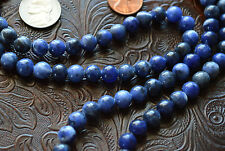 8mm Sodalite Prayer Beads Hand Made Japa Mala Necklace-Karma