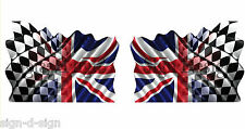 Stampato Union Jack flag racing adesivi decalcomanie grafiche