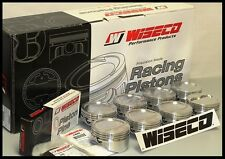 """SBC CHEVY 383 WISECO FORGED PISTONS & RINGS 4.060 -9cc RD DISH 6"""" RODS KP453A6"""