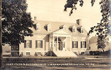 Institute & Butterfield Library WESTMINSTER VT 1924 Eastern Illustrating Co RPPC