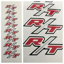 8pc R/T Dodge Chrysler Brake Caliper Vinyl Sticker Decal Logo Graphic Charger