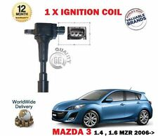 FOR MAZDA 3 BK BL 1.4 1.6 MZR 2006--  NEW 1 X SPARK PLUG IGNITION PENCIL COIL