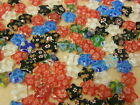 Millefiori beads Stars CHOOSE COLOUR jewellery bead making 30 beads