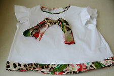 ROBERTO CAVALLI LEOPARD CHERRY PRINT BOW BABY BLOUSE TOP 18 MONTHS