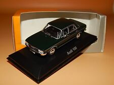 Audi 100 1969 Dunkelgrün Audi Tradition Collection Minichamps Scale 1/43 O V P