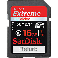 Sandisk Extreme 16GB 30 MB/s read write speed memory SD card for cameras nikon