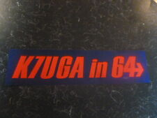 Barry Goldwater Bumper Sticker K7UGA In 64 Presidential 1964 Campaign Ham Radio