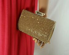 $395 BADGLEY MISCHKA Cybil Clutch Gold Evening Bag