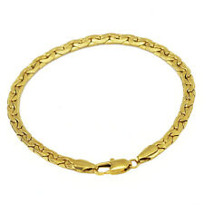 Luxury 5 mm width 18 k Gold Plated Unisex Bracelet for Men Women Jewellery BB120