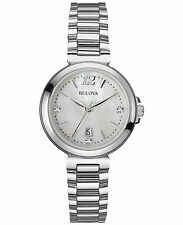 Bulova Women's 96P149 Diamond Gallery Mother of Pearl Dial Silver Tone Watch