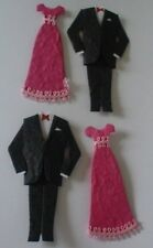 PAIR DINNER EVENING SUIT & PINK DRESS DIE CUT EMBELLISHMENTS FOR CARDS/CRAFTS