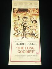 THE LONG GOODBYE original movie poster ROBERT ALTMAN classic - STONE LITHO ART!