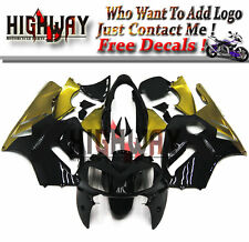 Injection Body For Kawasaki ZX12R 2002-2006 ABS Fairings Kit Bodywork Black Gold
