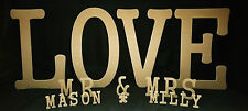 MDF Letters 300mmx18mm Free Standing Gr8 for weddings,Birthdays all celebrations