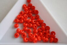 Opaque Orange Toho Magatama Beads. 4mm. 150 beads. #7468