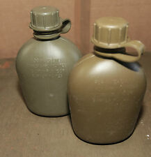 Water Canteen 1 litre 1 qt Genuine Military Surplus. Ex army.  X 2
