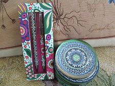 Vera Bradley ~ CUPCAKE GREEN PAPER WEIGHT & VIVA LA VERA  PERFECT MATCH PEN SET