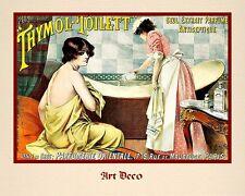 """A 10"""" x 8"""" Art Deco Print - Thymol Toilett"""