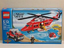NEW Lego City Fire Helicopter/Truck Building Toy Set,7206,3 Minifig,342 Pc,5-12