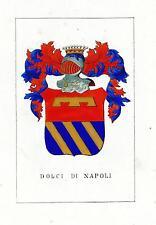 Araldica stemma araldico della famiglia Dolci di Napoli
