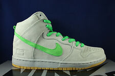 NIKE DUNK HIGH PREMIUM SB METALLIC SILVER BOX VERDE GUM IRON 313171 039 SZ 11