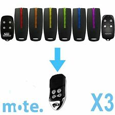 3 x Avanti/Superlift/Centurion TX4/MPS CompatibleGarage Door Gate Remote Control