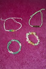 4 pretty, surfy bracelets - perfect for o'der child/teenager