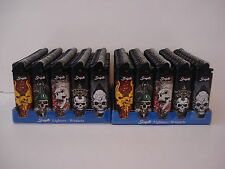 100 Scripto Lighters Regular Size Lighter Skull Design Series