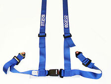 "Sparco Racing Street 4 Point Bolt-In 2"" Seat Belt Harness (Blue)"